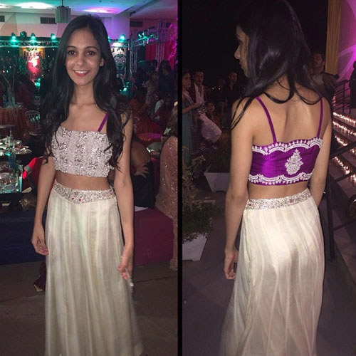 Amaani Premjee in a super hot Shamsha Hashwani lengha choli