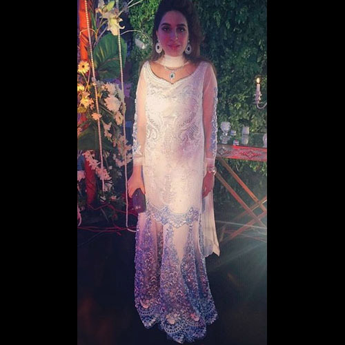 Anushay Hasham in a magnificent Ammara Khan wedding formal