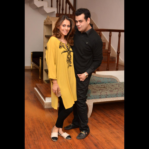 Sarah Raza of L'atelier and Usman Ahmed