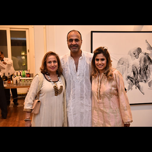 Deepak Perwani with Raana Karim and Farah Karim Pasha