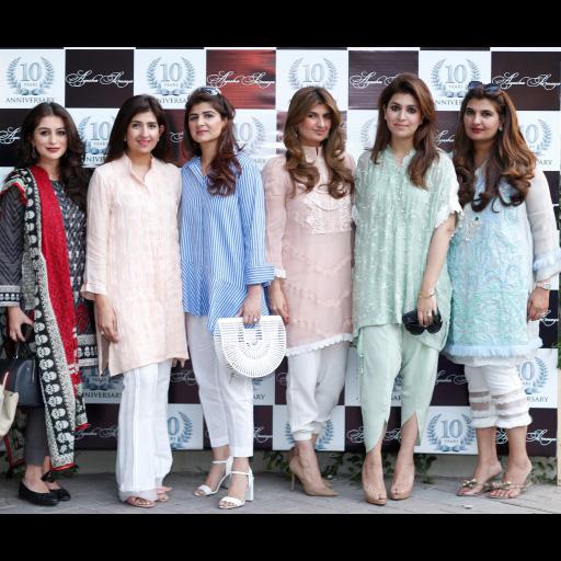 Anam Sufi, Amina Rehman, Mahvish Monnoo, Ayesha Sohail, Mehreen Monnoo, Marium Ellahi Atif