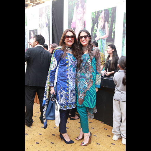 Aamna Taseer And Shehrbano Taseer in Kamal Lawn by AFH