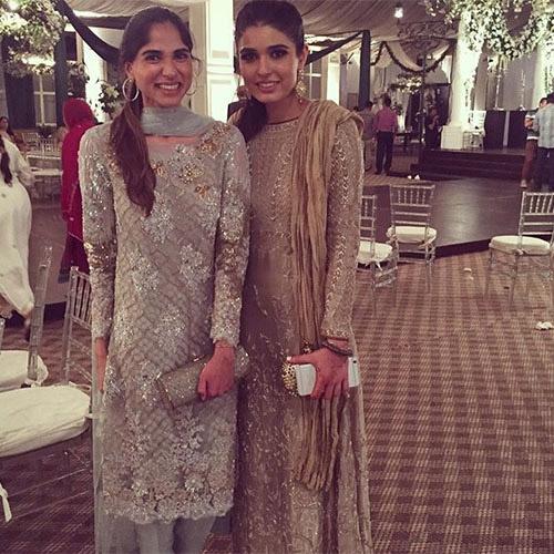 Sarah Tabani and Shahzah Ayub in Sania Maskatiya wedding formals