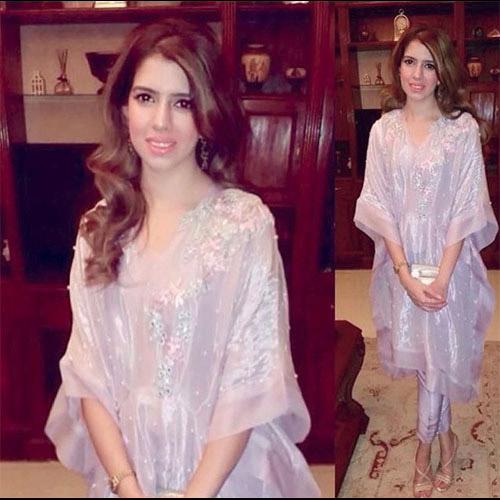 Stunning Shumaila Bokhari in a Farah Talib Aziz Kaftaan