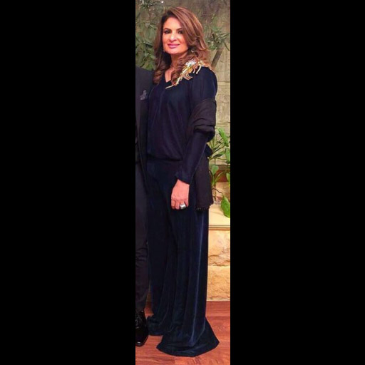 Farhat Malik wearing Maheen Karim at the SOP ball
