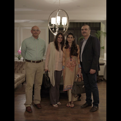 Mansoor and Layla Chatoor with guests