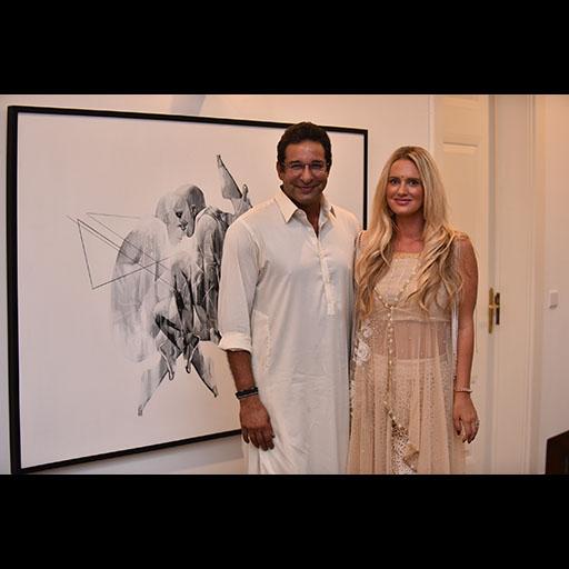Wasim and Shaniera Akram