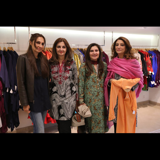 Fareeha Hashwani, Maliha Chughtai and Saba Obaid with a friend