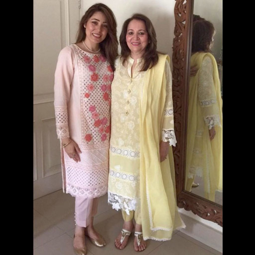 Sanam Chaudhri and her Mom both in Sanam Chaudhri