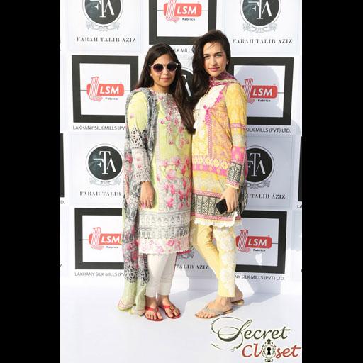 Anusha Bawany and Sana Ansari in Farah Talib Aziz Lawn