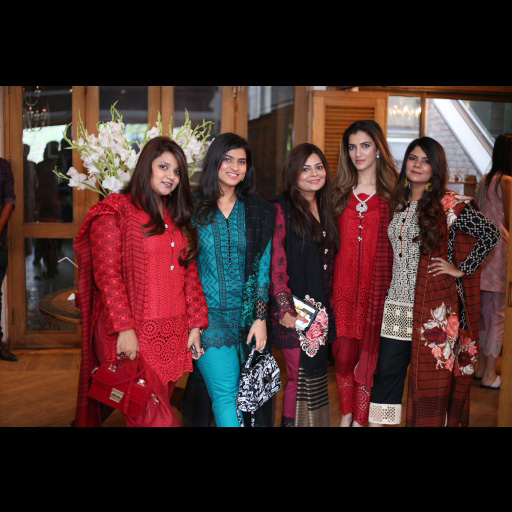 Zainab Chottani with Vardah, Alifyah, Zainab and Tooba wearing Zainab Chottani Chikankari Eid Festive Collection 2018