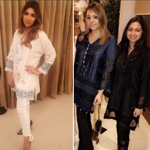 Mahin and Iman of Meher salon rocking Ayesha Somaya outfits this Eid