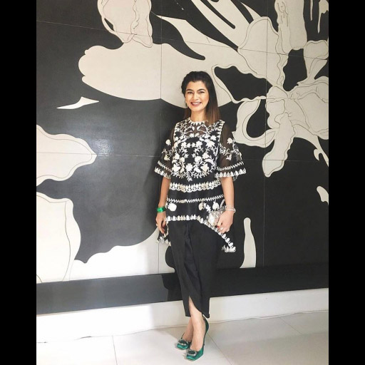 Saima Hassan wears a lovely Suffuse outfit on Eid