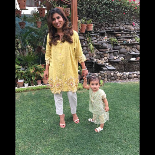 Nadia Farooqui with her darling little daughter on Eid