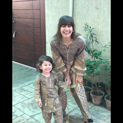 Our Favourite Mother-Daughter Duo Syra Shahroz and Nooray Earning some Major Style Points this Eid in Cross Stitch
