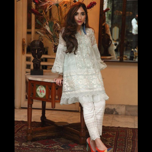 Spotted wearing Farida Hasan