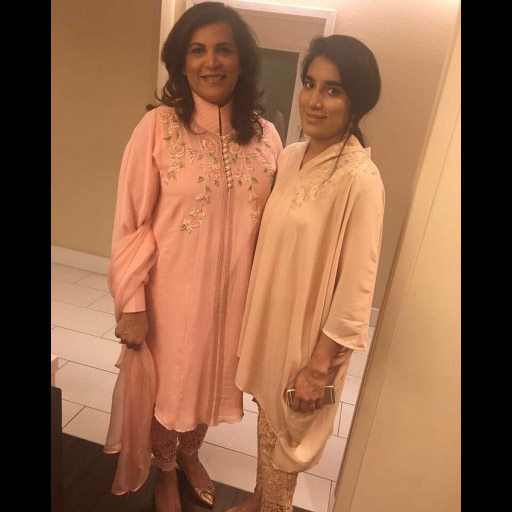 Samina and Aisha Spotted Celebrating Eid in Pretty Pastel Looks by Sanam Chauhdry