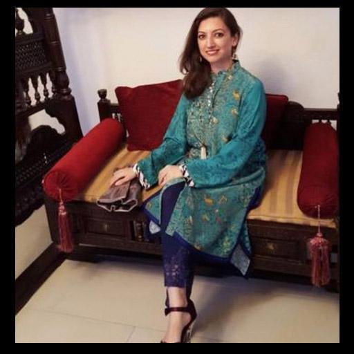 We're loving Fatima's Eid look Wearing a Pretty Multiple Shades of Blue Look by Sania Maskatiya