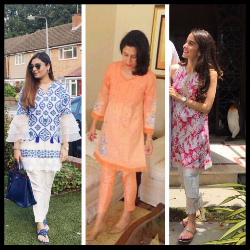 Samra Saeed, Sara Azher and Alizeh Munshi Look Stunning in Shamsha Hashwani on Eid