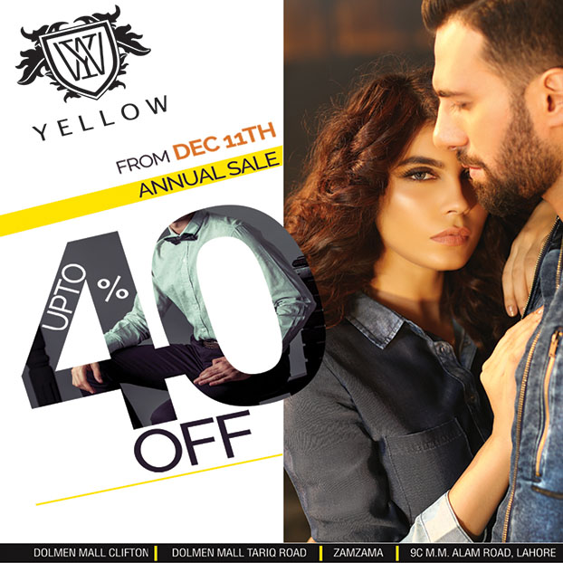 Yellow Announces Its Annual Sale In Stores Across Pakistan