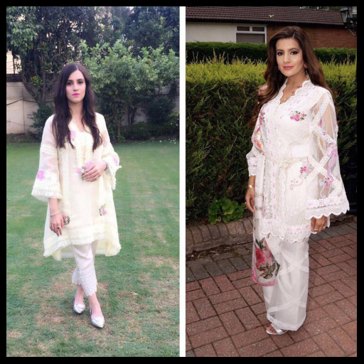 Pastels Ladies Looking Lovely in Farida Hasan on Eid