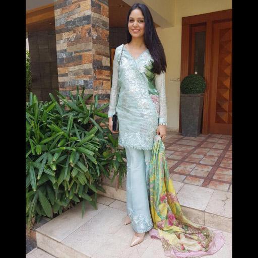 Saira Faisal of Saira Shakira Wearing Crimson Luxe by Saira Shakira on Eid Day 2