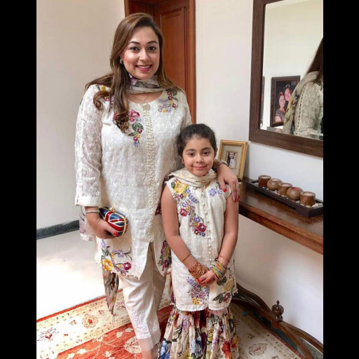 Saadia Asad and daughter in Noor by Saadia Asad