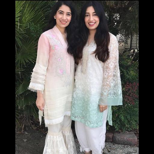Sahar and Mashal look super pretty in Farah Talib Aziz and Rema Shehrbano on Eid