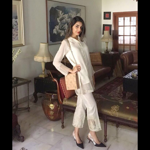 Mahvash Sheikh on Point in a Chic White Sana Salman outfit