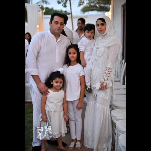 Azeem Elahi and Wife with Kids