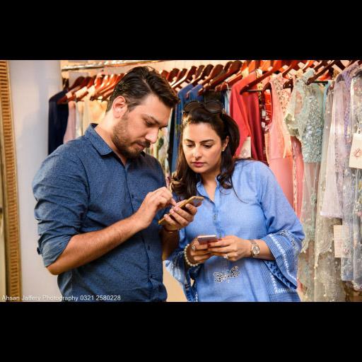 Umair and Salima - bloggers at work