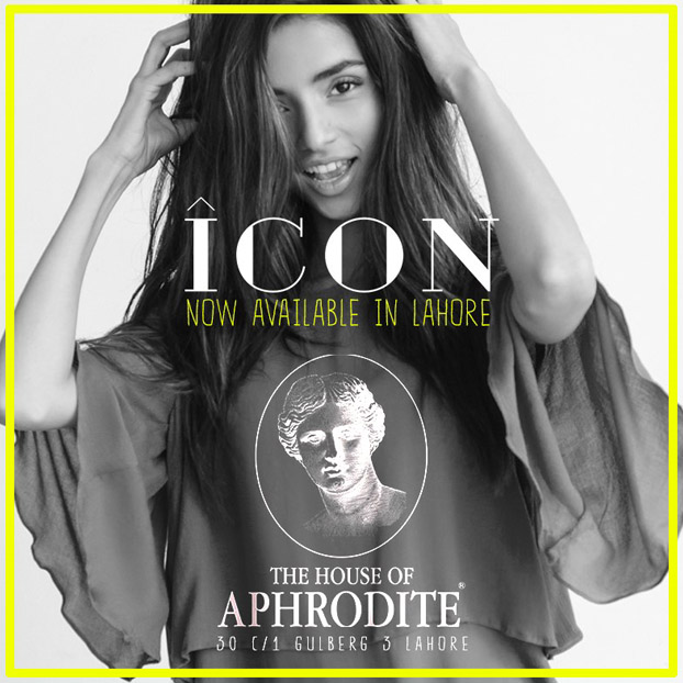 Icon now available at The House of Aphrodite in Lahore