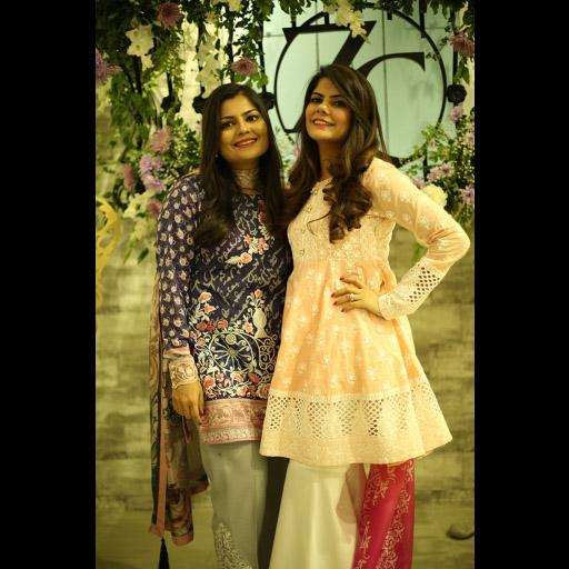 Zainab Chottani with Tooba Chottani