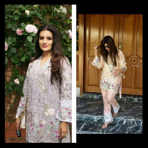 How gorgeous do these two beauties look in their Amna Arshad outfits on Eid