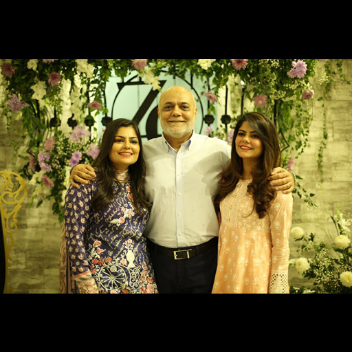 Zainab, Tooba with their father
