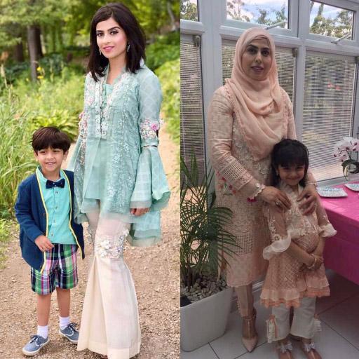 These ladies chose gorgeous Mubashira Usman ensembles for Eid