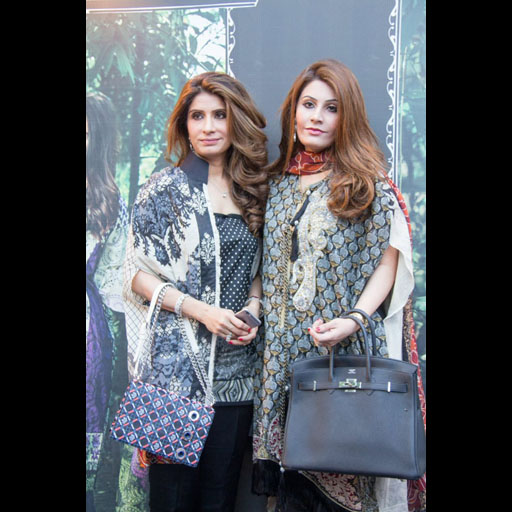Erum Ahmed CEO of So Kamal with her daughter Alina Raza both in Kamal Lawn by AFH