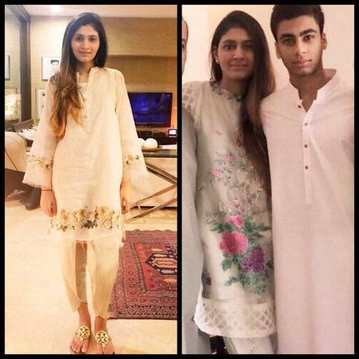 Rehmiyan celebrated Eid in Saira Habib's stunning floral Appliqué outfits