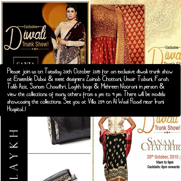 Ensemble Dubai Diwali Exhibiton 20th October!