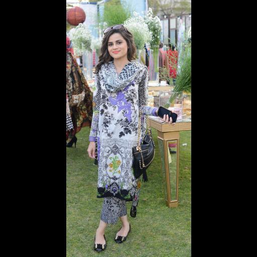 Maryam Khalid wearing Elan Lawn