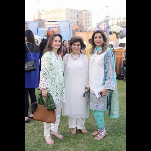 Melanie Saigl, Asma and Aneela Shah