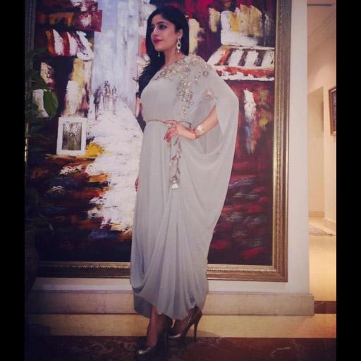 Natasha Abdulla looks flawless this Eid in Umaima Mustafa