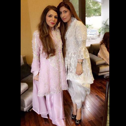 Sadaf and Safa sparkling on EID in these gorgeous Farah Talib Aziz outfits!
