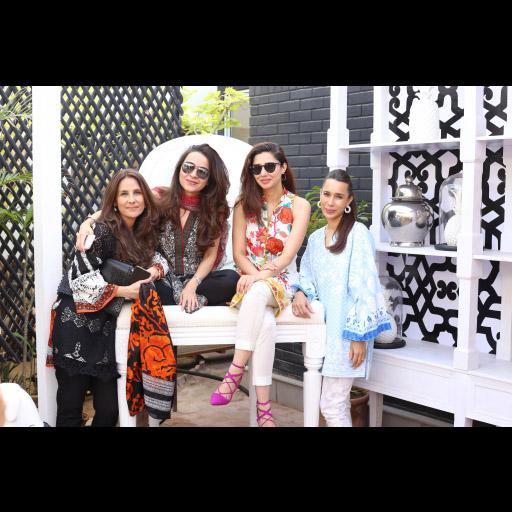 Safinaz Muneer, Pepsi Leghari, Mahira Khan and Sana Hashwani
