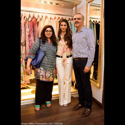 Aamna Haider Isani with Layla and Mansoor