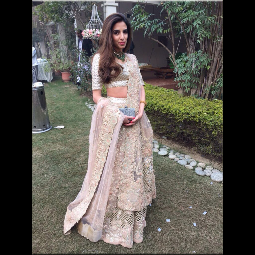 Fatin in an Elan cutwork heavy detailed lehnga choli