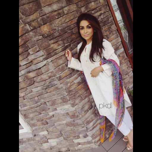Ammara Khalid from Leesburg, VA in a Zara Shahjahan outfit from PKDL on Eid day