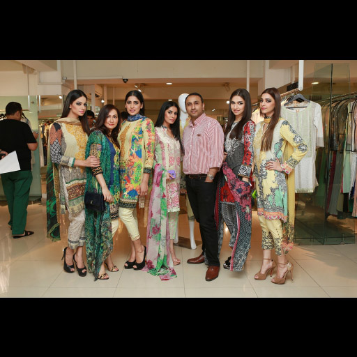 Asifa and Nabeel with the models
