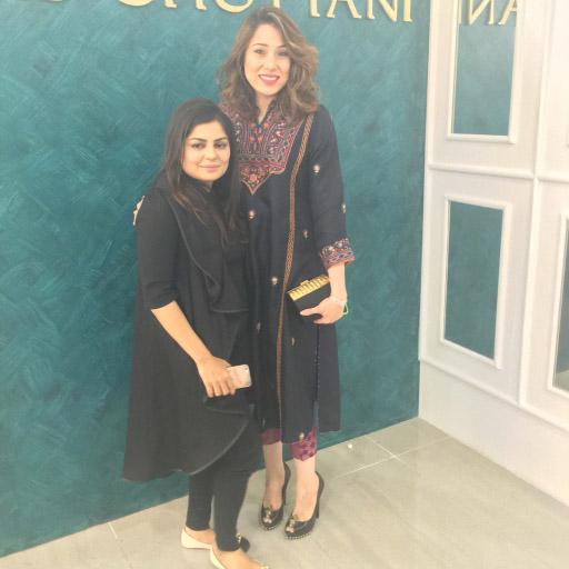 Sanam Chaudhri and Zainab Chottani