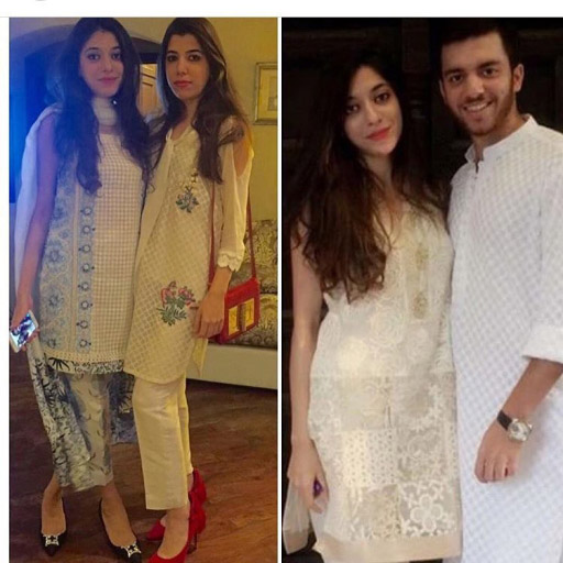 Two gorgeous sisters spotted looking fabulous in faridahasan this eid